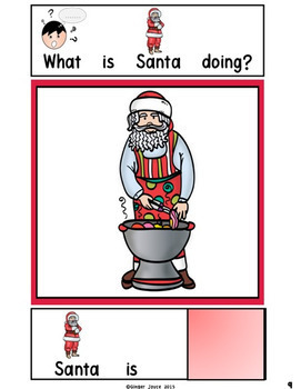 ADAPTED BOOK-What is Santa Doing? (PreK-2/SPED)