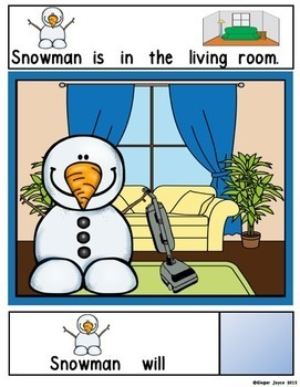 ADAPTED BOOK-The Helpful Snowman (PreK-2/SPED)