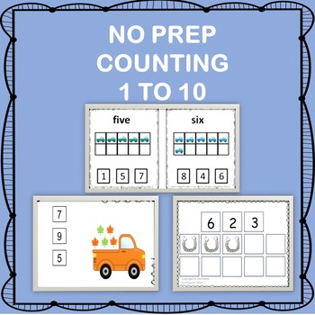 ADAPTED BOOKS COUNTING 1 TO 10 NO PREP