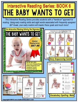 ADAPTED Book For Reading Comprehension and Retelling SPECIAL EDUCATION Book #6