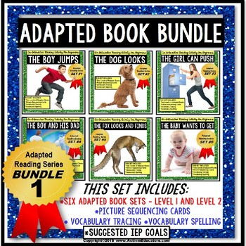 ADAPTED Books For Reading Comprehension and Retelling Special Ed BUNDLE ONE