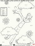 ADC Kid Math Coloring Worksheet