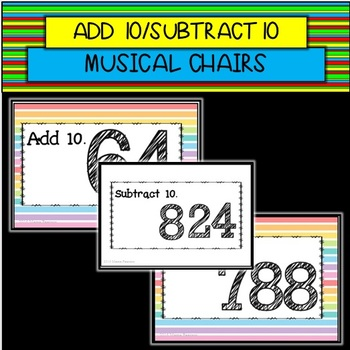 Add 10/Subtract 10 Musical Chairs GAME