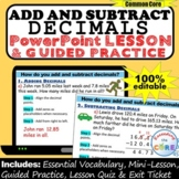 ADD AND SUBTRACT DECIMALS PowerPoint Lesson & Practice | D