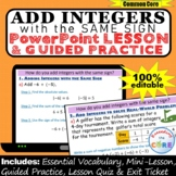 ADD INTEGERS with SAME SIGN PowerPoint Lesson & Practice | Distance Learning