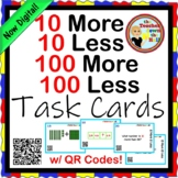 ADD and SUBTRACT 10'S and 100'S Task Cards w/ QR Codes Grades 2-3