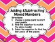 ADD & SUBTRACT MIXED NUMBERS