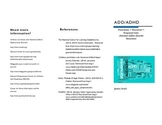 ADD/ADHD Parent Informational Brochure
