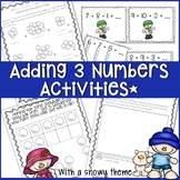 ADDING 3 NUMBERS PROBLEM SOLVING WORKSHEETS, LESSON PLANS AND ACTIVITIES