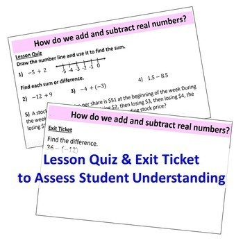 ADDING AND SUBTRACTING REAL NUMBERS PowerPoint Presentation