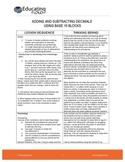 ADDING AND SUBTRACTING DECIMALS  USING BASE 10 BLOCKS