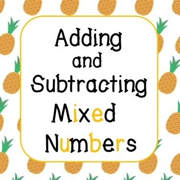 ADDING AND SUBTRACTING MIXED NUMBERS WITH LIKE DENOMINATORS!! 4TH GRADE!!