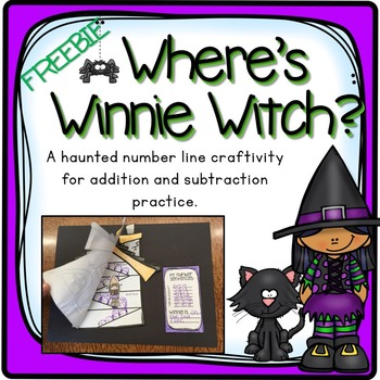 ADDING AND SUBTRACTING ON A NUMBER LINE HALLOWEEN CRAFTIVITY FREEBIE