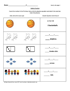 ADDING DOUBLES, Doubles + 1, Subtracting Doubles & My Game of I Have, Who Has?
