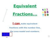 ADDING FRACTIONS ON A NUMBER LINE....