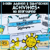 3 DIGIT ADDITION AND SUBTRACTION WITHOUT REGROUPING ACTIVITIES, WORKSHEETS