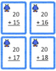 ADDING TWO 2 DIGIT NUMBERS TASK CARDS (NO REGROUPING)