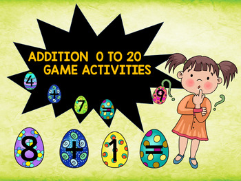 ADDITION 0 TO 20 - GAME ACTIVITIES  CCSS.MATH.CONTENT.2.OA.B.2