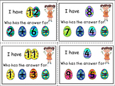 {$1 FLASH DEAL} I Have, Who Has  Game -  ADDITION 0 TO 20 - COMMON CORE