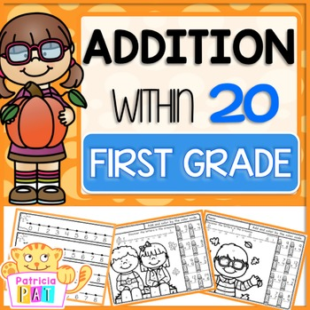 Addition to 20 Practice Worksheets Kindergarten Fall Math