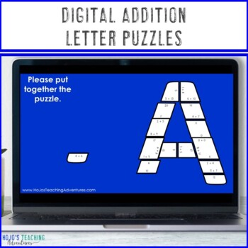 ADDITION A-Z Puzzles - Great for Bulletin Board Letters!