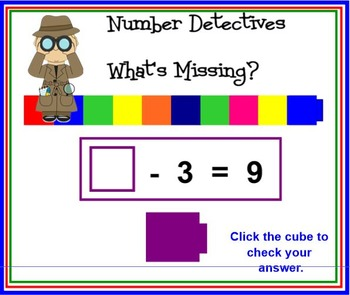 ADDITION AND SUBTRACTION DETECTIVES - WHATS MISSING?