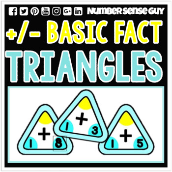 ADDITION AND SUBTRACTION FACT TRIANGLE SET