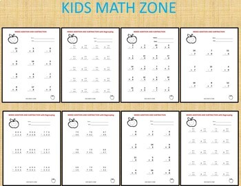 ADDITION AND SUBTRACTION - GRADE 1 TO 4 - single, double and triple digits