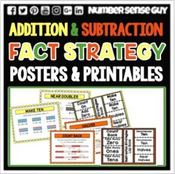 ADDITION AND  SUBTRACTION STRATEGY POSTER PACK
