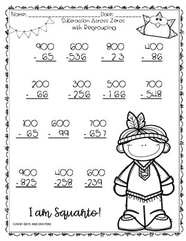 ADDITION AND SUBTRACTION THANKSGIVING / MATH THANKSGIVING THEME
