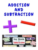 ADDITION AND SUBTRACTION: WORKSHEETS/POP QUIZ AND ANSWER KEYS