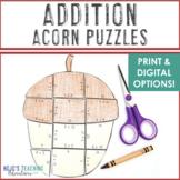 ADDITION Acorn Math Game | Autumn Activities | Make a Fall Bulletin Board!