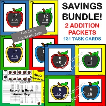 ADDITION BUNDLE! - TWO ADDITION PACKETS IN ONE! - SUMS TO 10 / SUMS 11-20