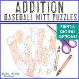 ADDITION Baseball Math Game - Math Supplement for a Sports