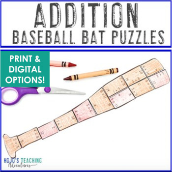ADDITION Baseball Math Game - FUN Sports Theme Activities!