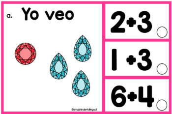 ADDITION CLIP CARDS in Spanish