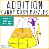 ADDITION Candy Corn Math: Digital Halloween Activities or