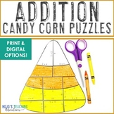 ADDITION Candy Corn Puzzles | Create Your Own Halloween Craft or Bulletin Board