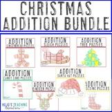 ADDITION Christmas Math Worksheet Alternatives - Seven downloads in one!