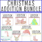 ADDITION Christmas Math Worksheet Alternatives - Seven dow