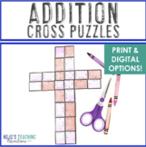 ADDITION Cross Puzzles | Great for a Religious or Christian Bulletin Board!