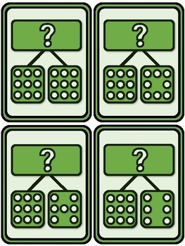 ADDITION DOMINO NUMBER BOND CARDS