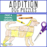 ADDITION Dog Math Game Activity | FUN Dog Decor Bulletin B
