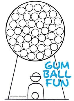 ADDITION MATH FACTS REVIEW   **GUM BALL FUN**
