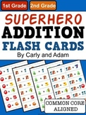 SUPERHERO Addition Flash Cards