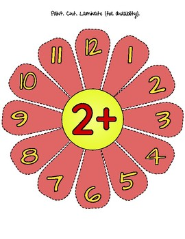 ADDITION FLOWER WHEELS -FACTS 1-12