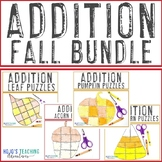 ADDITION Fall Math Craft Options - 21 Puzzles Included!