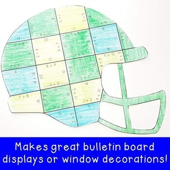 ADDITION Football Math Activities   Sports Theme Classroom Decor Supplement