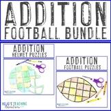ADDITION Football Math Worksheet Alternatives - 6 puzzle options!