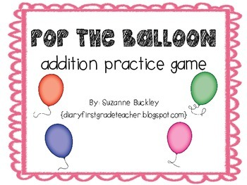 'ADDITION GAME' 'Pop the Balloon'